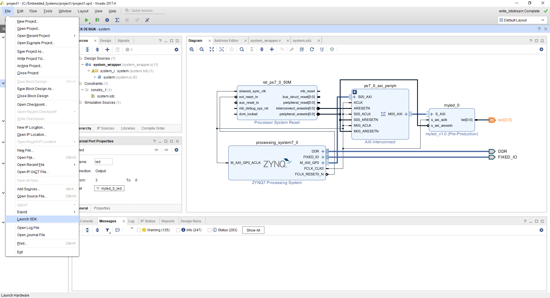 Figure 3. Launch SDK from Vivado