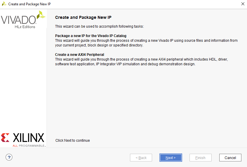 Figure 9. Create and Package IP Dialog